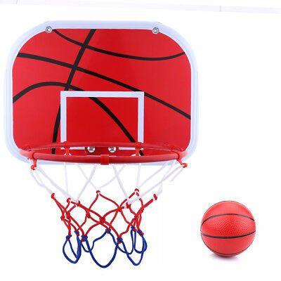 Mini Hanging Basketball Board Hoop Set For Kids Indoor Game Toy W Air Pump Netball Mini Basketballs Netball Hoop