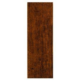 FLOOR: Style Selections 6-in x 20-in Colonial Wood Pecan Ceramic Floor Tile