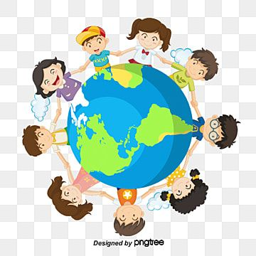 Children Holding Hands Earth Png And Psd Children Holding Hands Cartoon Posters Cartoons Holding Hands Hands holding a heart shaped green leaf. children holding hands earth png and