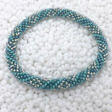 Laura Nepal Bracelet Glass Seed Bead Roll On Crochet Nepal Handmade Necklace
