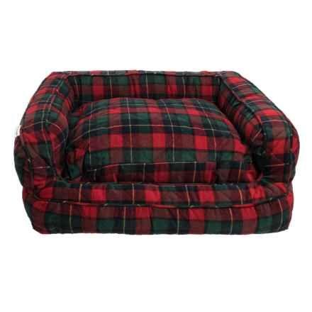 Rita Plaid Bolster Dog Bed