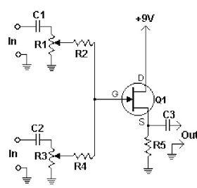 5 Channel Audio Mixer Circuit Diagram - AUDIO BARU