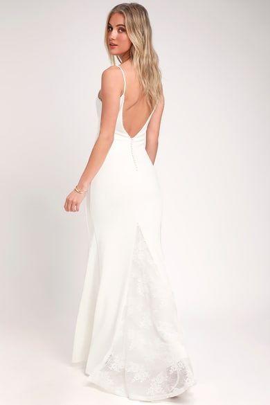 Infinite Glory White Maxi Dress In 2020 Maxi Dress Wedding Purple Bridesmaid Dresses Backyard Wedding Dresses