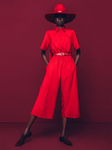 "eatprayo: ""exquisite-blackness: "" ""Red Hot: Nykhor Paul for Marie Claire South Africa "" "" The jumper 😍 "" Not usually a fan of red but Jesus 😍"