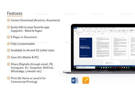 Mobile App Development Proposal Template Proposal Pinterest