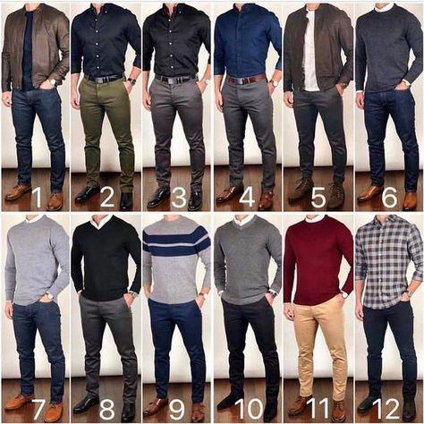 12 ideias de looks masculinos para trabalhar com estilo.