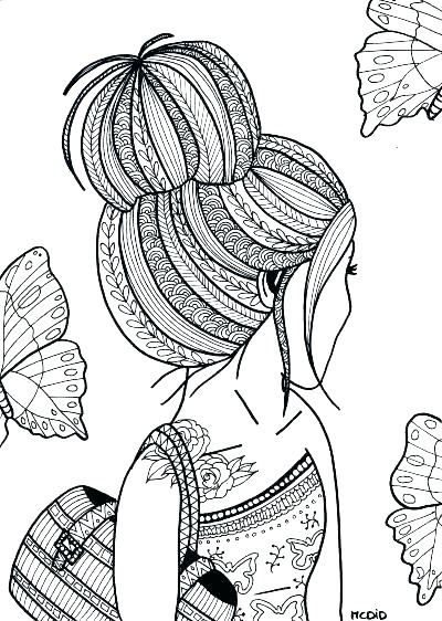 Printable Coloring Pages For Girls Hard Pretty Girl Coloring Pages For Girls Hard In 2020 Coloring Pages For Teenagers Coloring Pages For Girls Doodle Art Designs