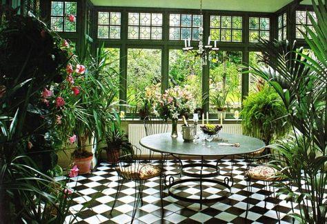 véranda jardin d\'hiver art déco | jardin secret | Jardin d ...