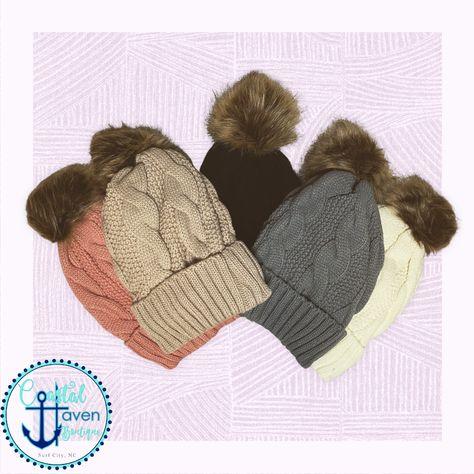 Twiddle Knit Beanies - grey