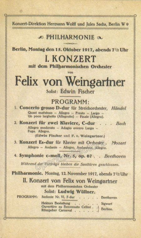 Fischer Edwin  Concert Program   Products