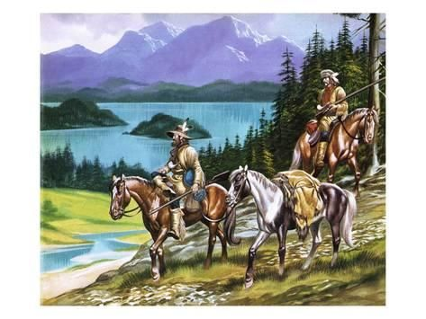 Trappers In The Wild West Giclee Print Ron Embleton Art Com Mountain Man West Art Art Gallery