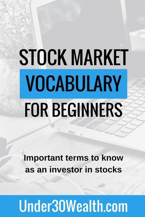 Stock Market Vocab 101 Understanding The Industry Terminology