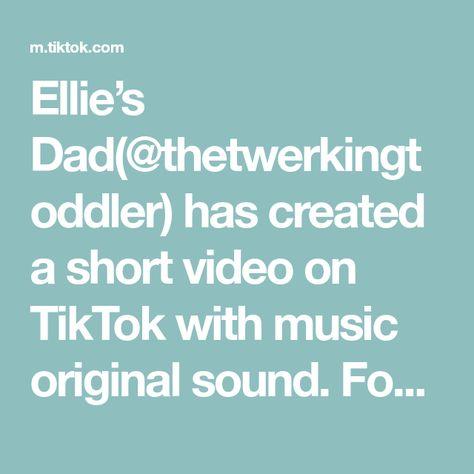 Ellie's Dad(@thetwerkingtoddler) has created a short video on TikTok with music original sound. Found a video of my daughter hearing Nicki Minaj for the first time. She got it from her mama. #babiesoftiktok #anaconda #babydance #nickiminaj