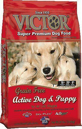 Victor Active Dog Puppy Formula Grain Free Dry Dog Food 30 Lbs