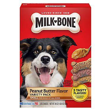 Milk Bone Small Dog Treat Variety Pack Peanut Butter Peanut