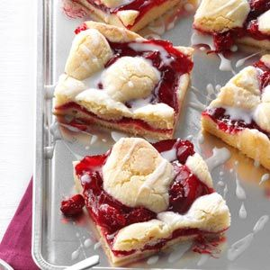 Cherry Bars Recipe from Taste of Home -- shared by Jane Kamp of Grand Rapids, Michigan