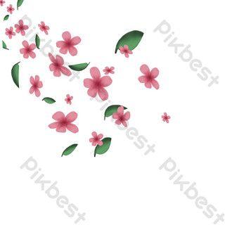 Floating Pink Five Petal Flower Png Images Ai Free Download Pikbest Flower Png Images Petal Sign Design
