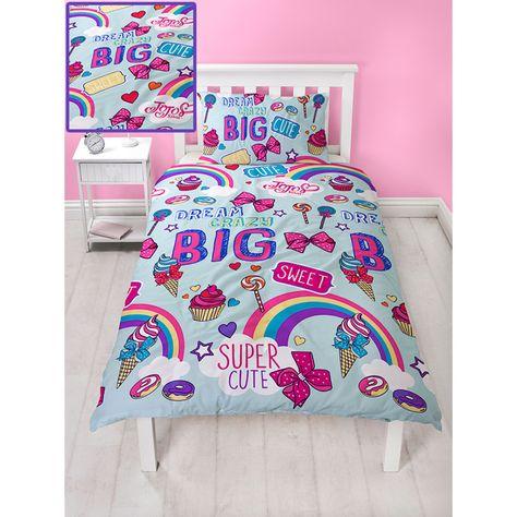 Jojo Siwa Dream Huge Bow Printed Single Bedding Kids Duvet Cover Pillow Case Set