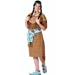 Déguisement indienne adulte femme avec petit sac indien et couvre-chaussures indiennes, fêtes. http://www.baiskadreams.com/1511-deguisement-indienne-adulte-femme.html