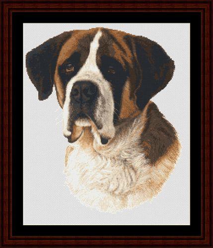 Saint Bernard - Cross Stitch Collectibles fine art counted cross stitch pattern
