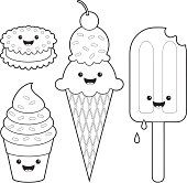 Cute Ice Cream Characters Ice Cream Coloring Pages Puppy Coloring Pages Easy Coloring Pages
