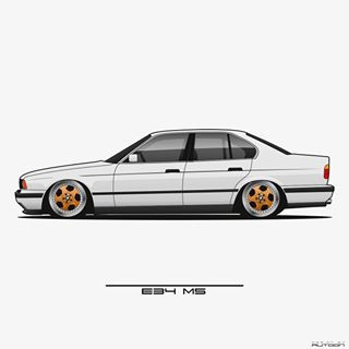 Image May Contain Car Bmw M5 Bmw E34 Bmw