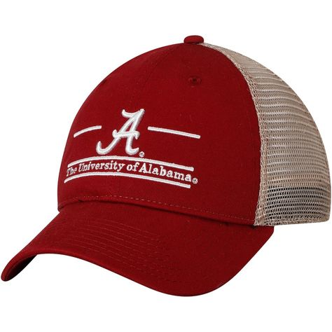 Men's The Game Crimson Alabama Crimson Tide Logo Bar Trucker Adjustable Hat, Size: One Size, ALA Red