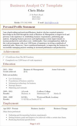 Resume Example With Headshot Photo Cover Letter 1 Page Word Resume Design Diy Cv Example Writing A Cv Personal Statement Examples Resume Examples