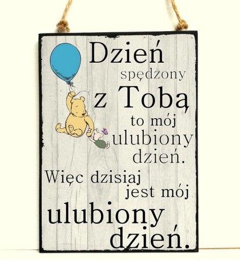 Plakat Kubus Puchatek Cytat Napis Milosc Tesknota 7622324837 Oficjalne Archiwum Allegro Friendship Quotes Words Quotes