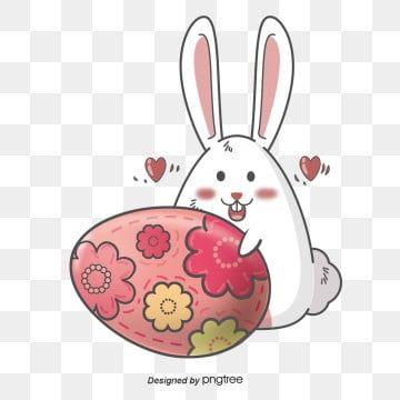 Hand Painted Easter Rabbit With Pink Easter Eggs Easter Clipart Rabbit Cartoon Png Transparent Clipart Image And Psd File For Free Download Coelho Desenho Coelhinho Da Pascoa Desenho Animado