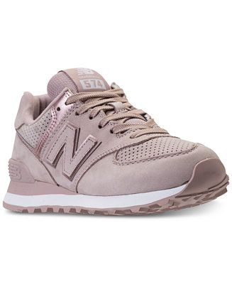 New Balance Women's 574 Rose Gold Casual Sneakers from ...