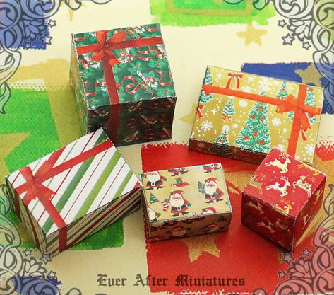 Vintage Christmas Gift Boxes Necktie Deadstock Department Store Box Vintage Gift Box