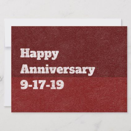 Happy Anniversary With Custom Date Red Paper Holiday Card Holidays Diy Custom Design Cyo Holiday Famil Happy Anniversary Cute Anniversary Gifts Holiday Cards