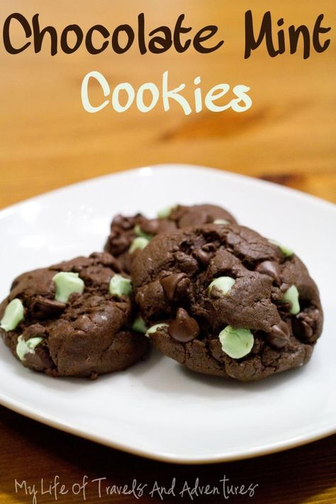 My Life of Travels and Adventures: Chocolate Mint Cookies