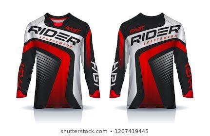 Tshirt Sport Design Template Soccer Jersey Mockupuniform Stock