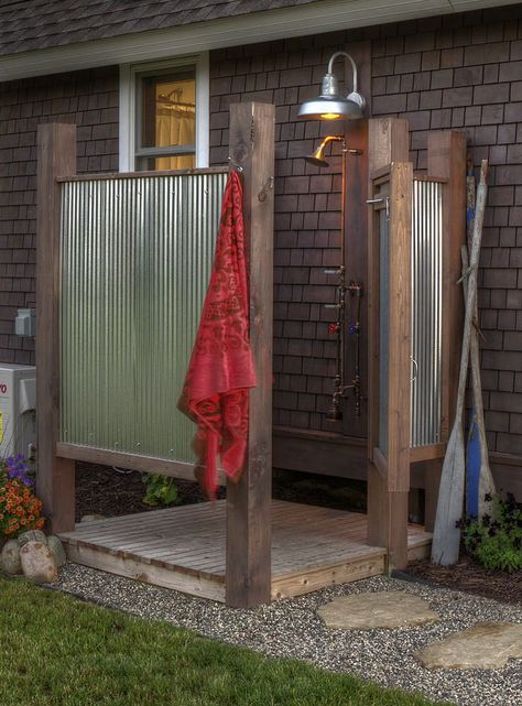 home_decor - How to Build & Enjoy An Outdoor Solar Shower