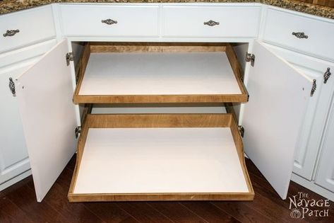 Diy Slide Out Shelves Slide Out Shelves Diy Slides Diy Pull