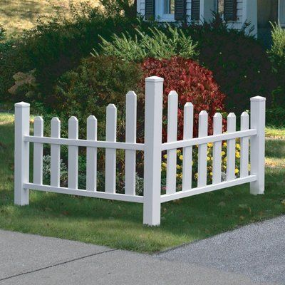 """Zippity Outdoor Products 2.5 ft. H x 3.5 ft. W Ashley Accent Fence Panel, Vinyl in White, Size 38.5"""" L x 40"""" W x 30"""" H   Wayfair"""