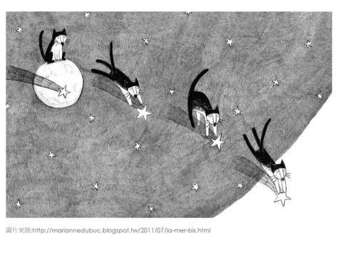 100個風格模仿 Marianne Dubuc 色鉛筆插畫家 002 畫畫媽媽 菲菲娘