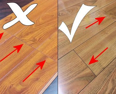 Laminate Floor Installation Tips || Stagger laminate planks for a more  realistic real wood look, plus it'll add dimensional stability to your new  l