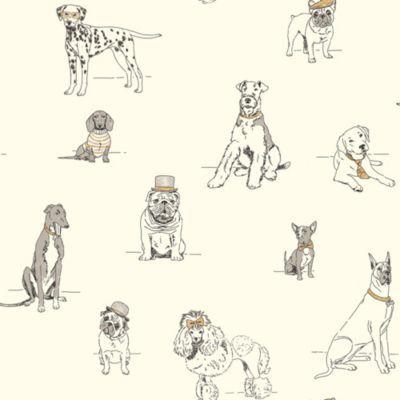 Fancy Dogs Wallpaper Ballard Designs In 2020 Dog Wallpaper York Wallpaper Toile Wallpaper