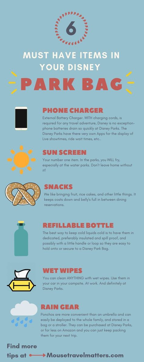 Things Everyone Should Bring For A Day At Disney – The Awesome Disney World Packing List is just a list of suggestions of what to pack for a Walt Disney World vacation. #DisneyWorld #FamilyTravel #Travel #disneypackinglist #packinglist #disneybag