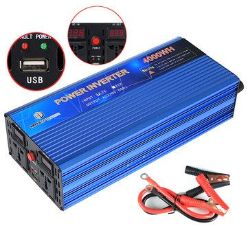12v To 220v Power Inverter Modified Sine Wave Power Converter 3000w 4000w 5000w Double Display Power Inverters Power Converters Sine Wave