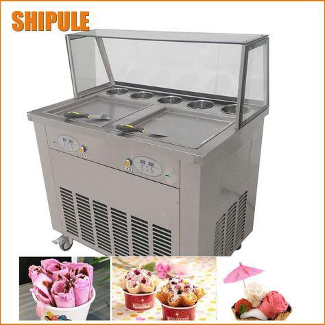 Stainless Steel 110v 220v Electric Yogurt Fry Ice Pan Maker Fried