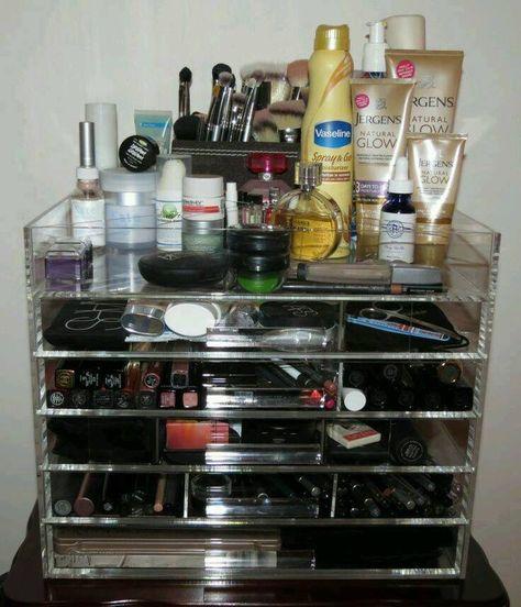 Makeup Storage Icebox Makeup Organizer Makeup Organization Make Up Organiser