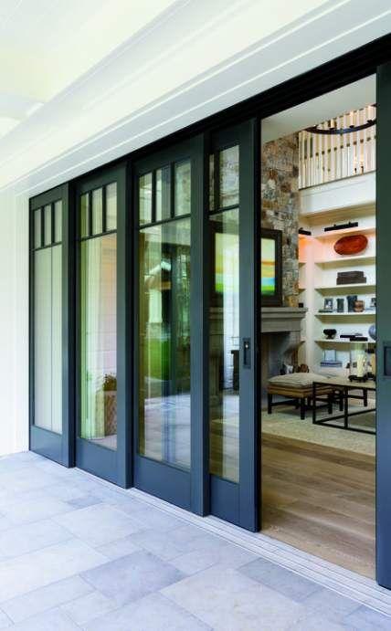 36 Ideas Home Exterior Black Windows Patio In 2020 Sliding Doors Exterior French Doors Exterior Glass Doors Patio