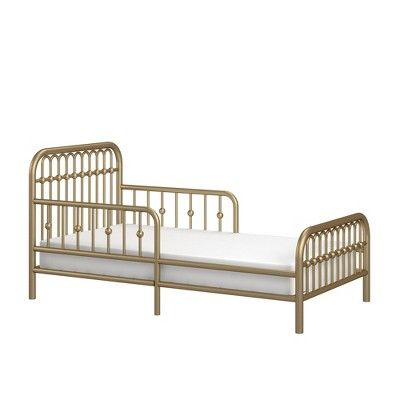 Monarch Hill Ivy Metal Toddler Bed Gold Little Seeds Toddler