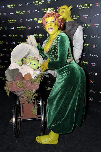 Heidi Klum Photos - Heidi Klum and Tom Kaulitz show up dressed as Princess Fiona and Shrek to Klum's Annual Halloween Party at Lavo on October 2018 in New York City.