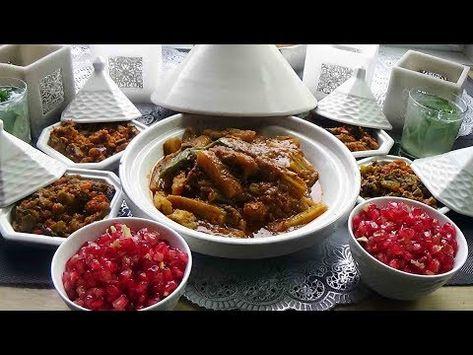 Tajine De Cardons Et Salades Marocaines Repas De Saison Benefique Youtube