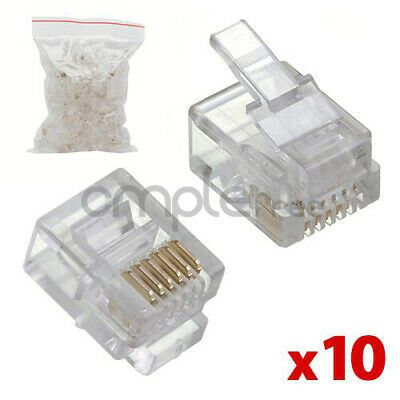 Ebay Ad Url Rj12 Modular Plugs 6p6c For Solid 50 Pcs Lot Of 10 New Modular Plug Computer Cables And Connectors Phone Plug